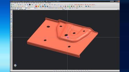 五金冲压模具设计自学视频福特汽车后门内板零件工艺排样第一集