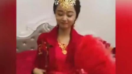 这个新娘笑起来神似赵丽颖
