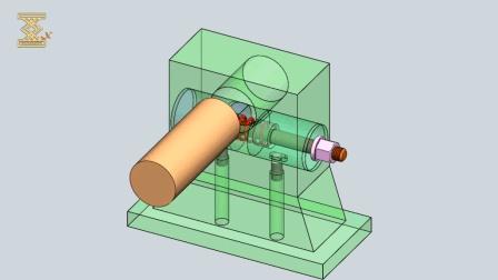 螺杆驱动的, 用于圆形工件的机械结构, 看看是如何设计的