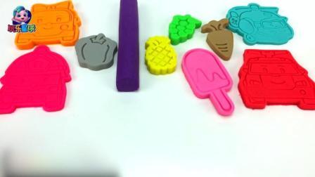 培乐多彩泥玩具视频 超级飞侠手工水果