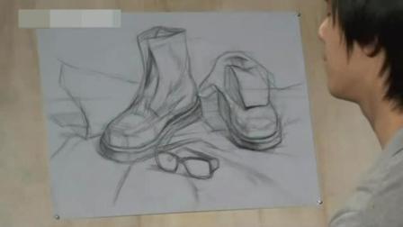 大学设计素描优秀作品 速写人头 铅笔画狼图片