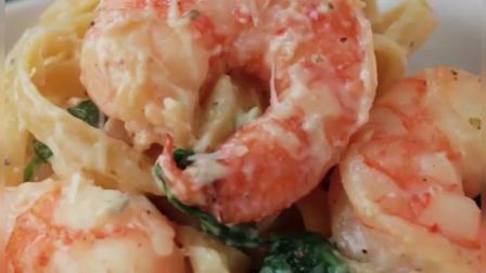 美味的虾仁意大利面, 简单的食谱可以多一种吃法