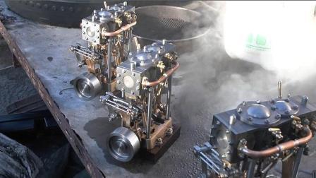 精致实用的小蒸汽发动机, 这小玩意国内不常见, 但工业强国很多
