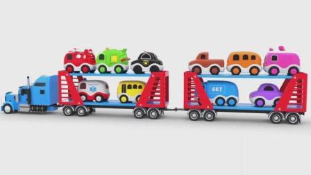 亮亮玩具学习颜色形状, 汽车动画学英语, 婴幼儿宝宝教育游戏视频763