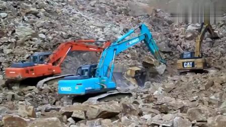 挖掘机司机在石场干活有多危险? 看过了你才知道!