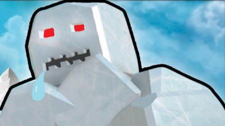 【豪宝宝】虚拟世界Roblox 铲雪模拟器如何召唤击败冰块大Boss 乐高小游戏