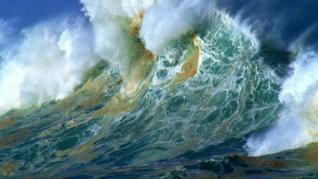 大海海浪波涛汹涌