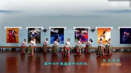 廊坊星月舞蹈队广场舞《爱我中华》正背表演,这厉害了!