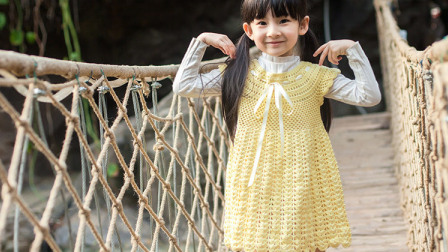 【金贝贝手工坊 183辑】M53公主连衣裙纯真款 毛线钩针儿童镂空花样上衣裙子
