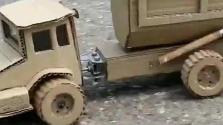 国外儿童的益智学习, 手工制作自卸卡车, 厉害了