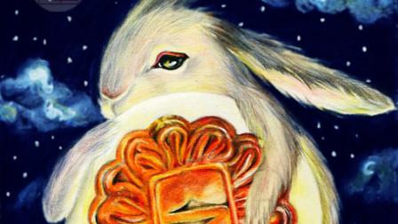 【艺达】彩铅写实教程-中秋节兔子月饼 2
