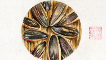 【艺达】彩铅-彩铅超写实 瓜子 瓜子   我是吃货