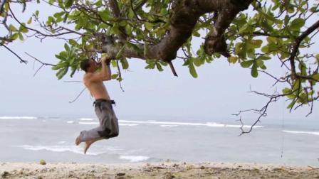 贝爷荒岛求生, 天降甘露, 海鲜吃太好, 都精力充沛锻炼身体了