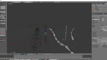 blenderCN-rigify专题-关于三种类触手的骨骼类型的分析-作者叶月葵