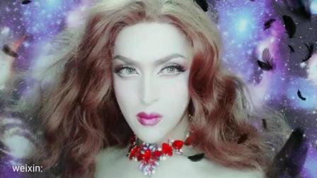 千变Tony  变装皇后主题造型  男扮女装  欧美妆容