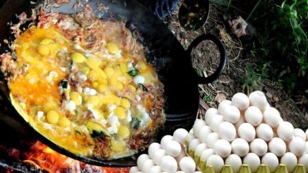 印度人做饭, 打了100个鸡蛋做蛋炒饭, 过程看着令人泪奔了