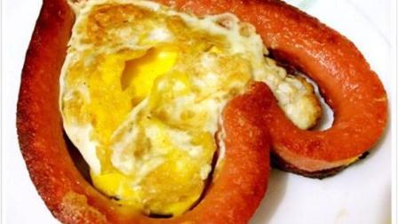 香煎火腿鸡蛋, 营养丰富, 适合大家的口味