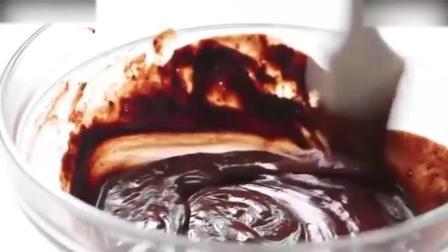 烘焙视频巧克力挞小小个, 看着好想吃奶油裱花