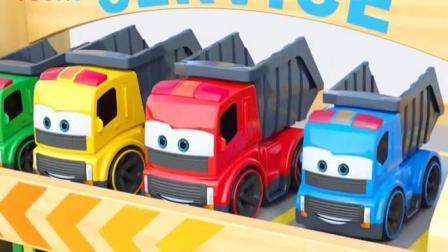 幼儿早教汽车动漫: 小卡车从二楼弄到一楼车库停放