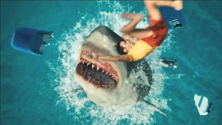 大海啸来袭, 鲨鱼入侵超市, 看被困在超市里的人怎样鲨口逃生
