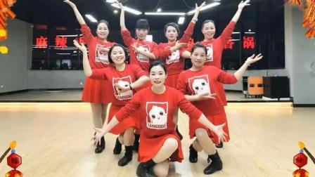 林州芳心广场舞红红火火中国年原创新年舞
