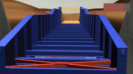 不用任何大型机械的桥梁架设技术, 3D演示顶推架桥, 人们太聪明了