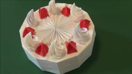 简单折纸 小吃和水果 蛋糕