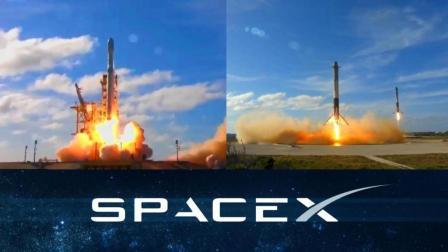 机械美学:汽车上天全过程,SpaceX Falcon Heavy猎鹰重型火箭成功首发回收20180207
