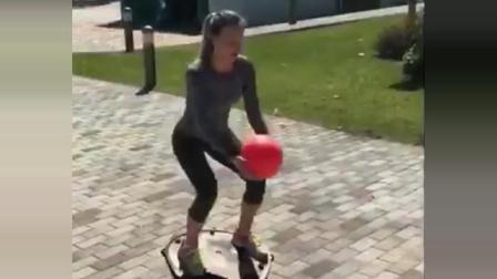 海特网球教学-正反手健身球训练