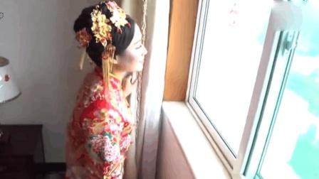 真实婚礼, 新娘化妆后, 丝毫不输明星, 闺房中盼着新郎快来
