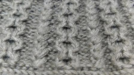 毛衣点綴的立体花样编法原来这么简单啊!花样