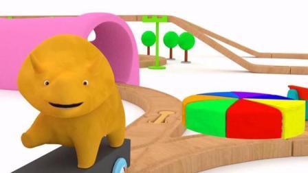 幼儿早教动漫: 跟恐龙戴诺学习制作蛋糕并认识彩虹的七种颜色