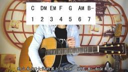 【第八课】吉他C调常用和弦教学 大横按F和弦详解 快速教你一天学会 和弦转换 轻松入门