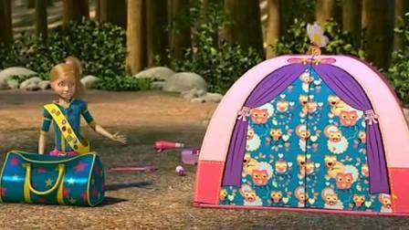 芭比之梦想豪宅: 公主们的露营, 生活怪好