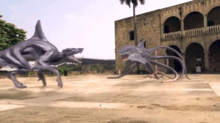 """4分钟看《八爪狂鲨战鲸狼》, 搞笑你们真是""""专业的"""", 该停拍了"""