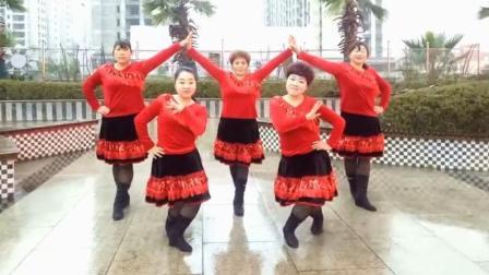 羽蝶广场舞张灯结彩原创新年舞非常喜庆适合表演