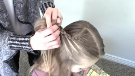 小女孩心形编发, 妈妈的制胜法宝, 这个发型让女儿瞬间变身小公主