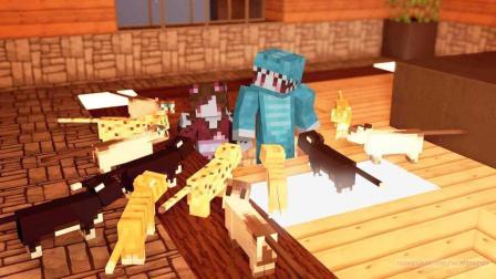 【四新&七末】小空岛生存♥番外 一个猫爬架 [我的世界Minecraft]