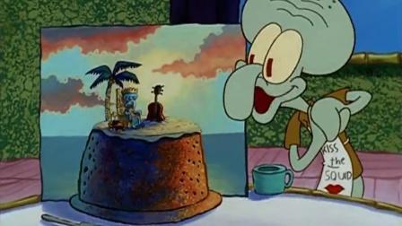 海绵宝宝:章鱼哥为自己做生日蛋糕庆祝生日,蛋糕图案美极了