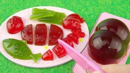 手工DIY史莱姆气球果冻 日本食玩 水果蔬菜软糖 水果切切乐 蜡笔小新屁屁 小伶玩具