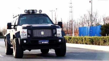 配备V10大心脏6.2L排量的陆地装甲大怪兽——乔治巴顿装甲越野房车评测《上》