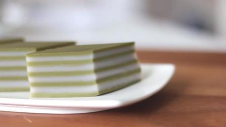 抹茶椰汁千层糕的视频教程