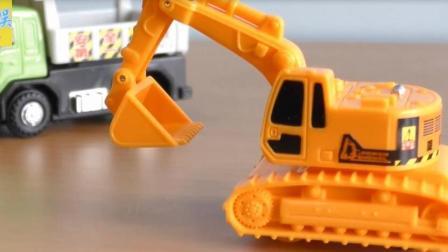 儿童迷你挖掘机 迷你推土车玩具视频