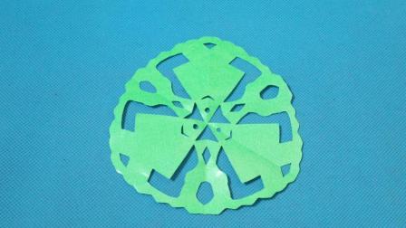 剪纸小课堂683: 小鱼团花 剪纸视频教程大全 儿童亲子手工DIY教学 简单剪纸艺术