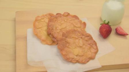 教你做杏仁饼干, 薄香酥脆小零食, 简单易学