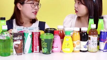 日本食玩饮料大集锦 透明奶茶与黑色矿泉水 新奇饮料试喝 小伶玩具 可爱宝贝的圣诞节