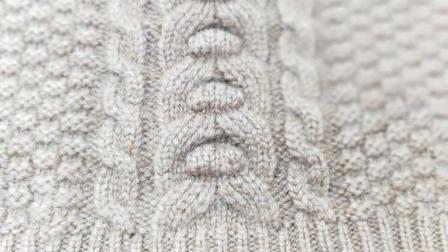 立体的凸突的横条这样编织好不好玩的?花样