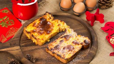 早餐做个厚切岩烧吐司片, 简易又管饱!