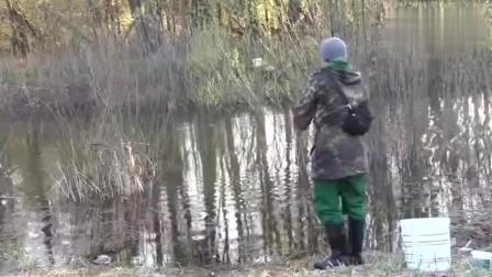 钓鱼: 这钓鱼人真厉害,漂都没动,钓的全是走漂鱼