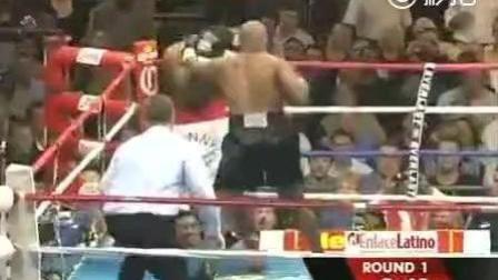 泰森退役前最激烈的一次比赛, 暴打对手! ! 吓到观众了